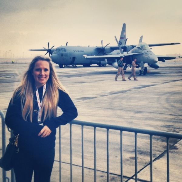 It felt good to see the US air force here :)
