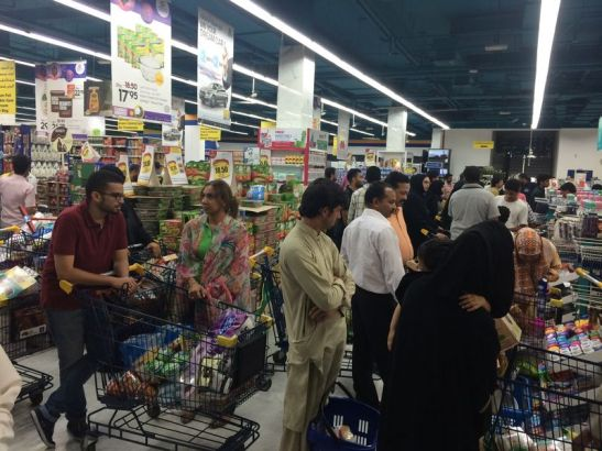 The grocery stores before Eid